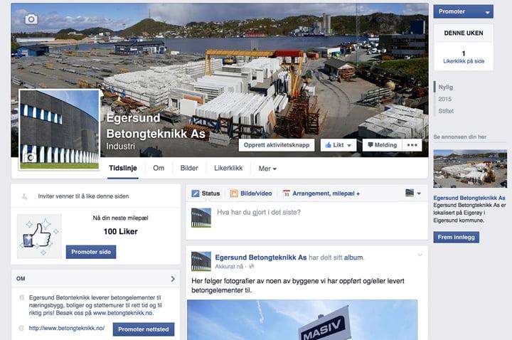 Egersund Betongteknikk er nå på Facebook!